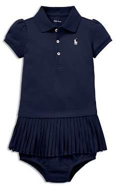 Ralph Lauren Girls' Pleated Polo Dress & Bloomers Set - Baby
