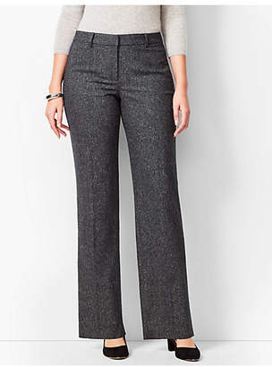 Talbots Windsor Wide-Leg Donegal Pants - Curvy Fit