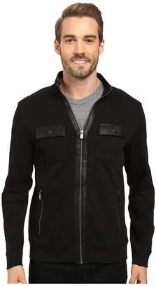 Calvin Klein Long Sleeve Solid French Rib Four-Pocket Mock Shirt Men's Long Sleeve Pullover