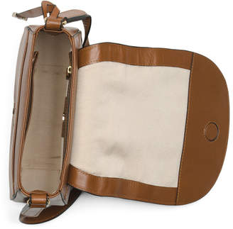 Medium Leather Foldover Crossbody