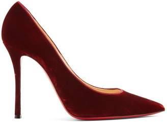 Christian Louboutin Decoltish 110 Velvet Pumps - Womens - Dark Orange