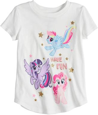 My Little Pony Toddler Girl Jumping Beans Rainbow Dash, Twilight Sparkle & Pinkie Pie Graphic Tee
