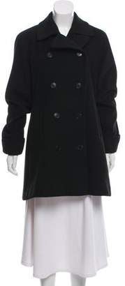 Calvin Klein Collection Wool Double-Breasted Coat