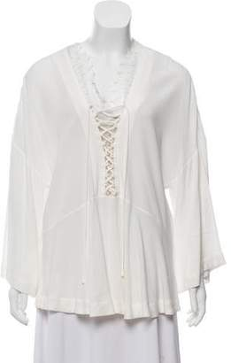 IRO Lace Accented Blouse Top
