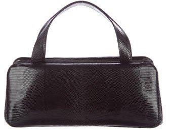 Calvin Klein Embossed Leather Handle Bag
