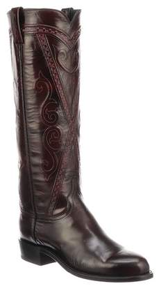 Lucchese Dora Leather Cowboy Boot