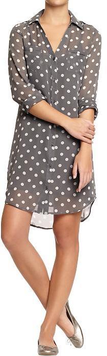 Old Navy Women's Polka-Dot Chiffon Shirtdresses