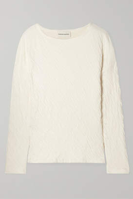 Mansur Gavriel Crinkled Cotton-jersey Top - Cream