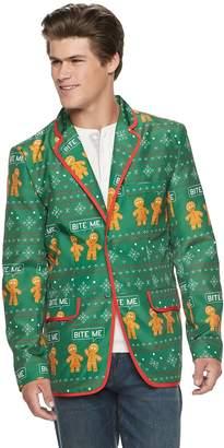 Men's Gingerbread Man Christmas Blazer