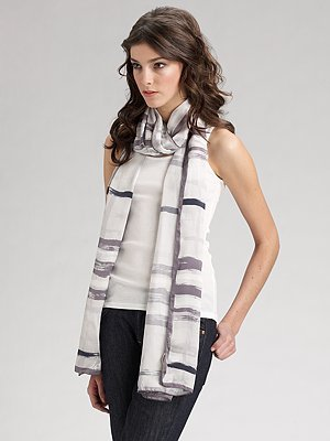 Burberry Brushstroke Silk Scarf