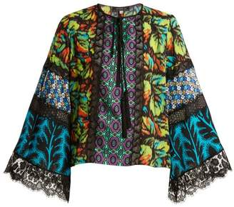 Andrew Gn Multi Print Silk Blend Georgette Blouse - Womens - Multi