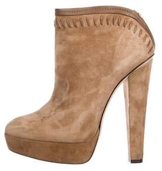 f519d54d59b6 Jimmy Choo Suede Platform Ankle Boots