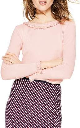 Boden Bernadette Wool Cotton Sweater