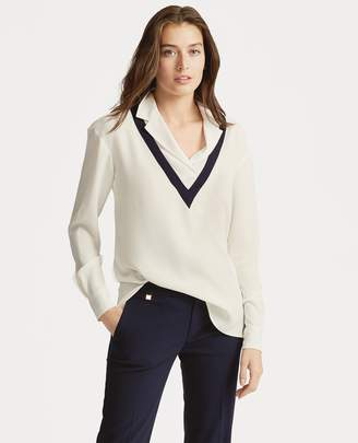 Ralph Lauren Layered Georgette Top