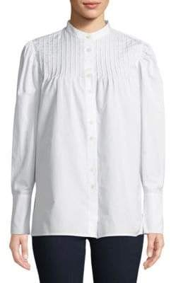 Diane von Furstenberg Pintuck Button-Down Shirt