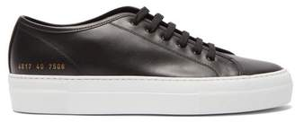 Common Projects Tournament Flatform Leather Trainers - Womens - Black White