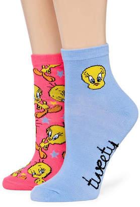 Asstd National Brand Womens 2 Pk Novelty Ankle Socks
