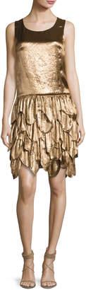 Ralph Lauren Dara Tiered Sleeveless Dress, Bronze