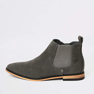 River Island Boys grey smart Chelsea boots