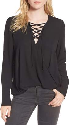 Trouve Lace-Up Top