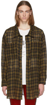 Faith Connexion Brown Check Overshirt