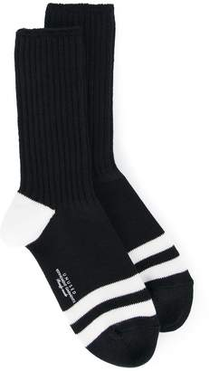 Unused striped design socks
