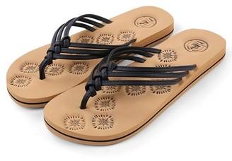 AERUSI Livi Life Women's Indoor or Outdoor Casual Walking Flip Flop Sandals (Black)