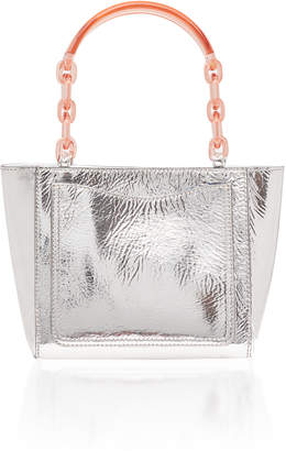 Edie Parker Metallic Leather Micro Tote