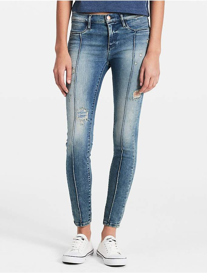 Calvin Klein Super Skinny Destructed Jeans