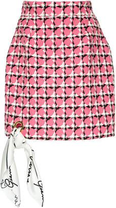 Versace Printed Cotton-Blend Mini Skirt Size: 36