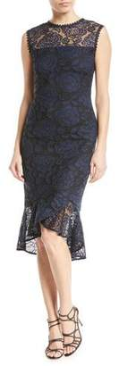 Shoshanna Reika Sleeveless High-Low Lace Dress