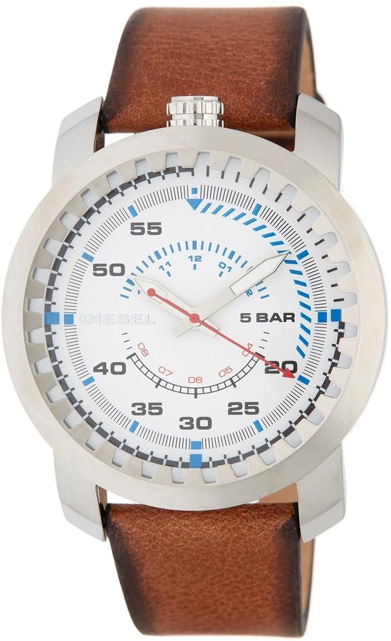 DieselDiesel Men's Rig Leather Strap Watch