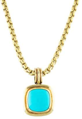 David Yurman Turquoise Albion Pendant Necklace