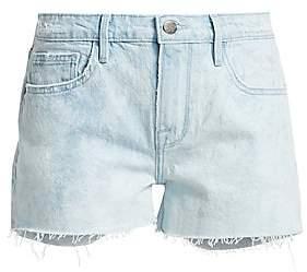 306aceac76 Frame Women's Le Grand Garcon Raw Hem Denim Shorts