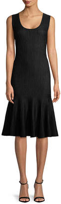 Carolina Herrera Ribbed Sheath Dress