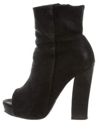 AllSaints Peep-Toe Leather Boots