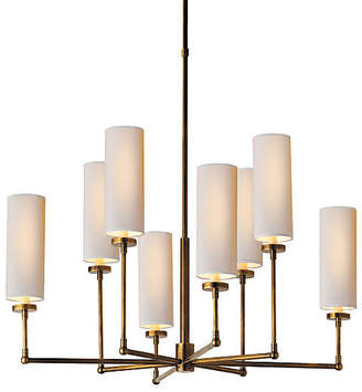 Visual Comfort & Co. Ziyi 8-Light Chandelier - Antiqued Brass