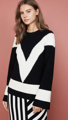 Victor Glemaud V Neck Long Sleeve Sweater