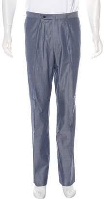 Isaia Flat Front Pants