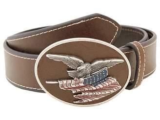 M&F Western Eagle Flag Patriotic Flag Buckle Belt