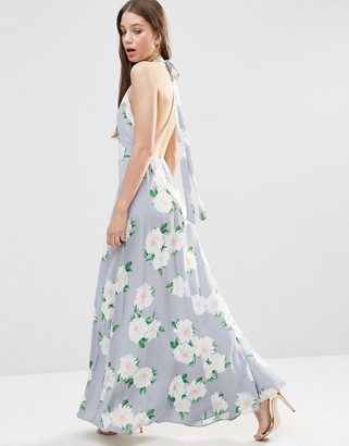 ASOS Open Back Maxi Dress In Floral Print $68 thestylecure.com