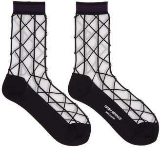 Issey Miyake Black and White Sunlight Socks