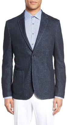 Men's Sand Two Button Knit Blazer $595 thestylecure.com