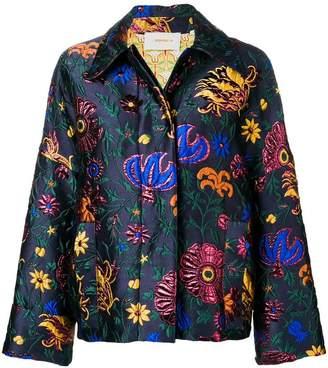 Dragon Optical La Doublej Flower oversized jacket