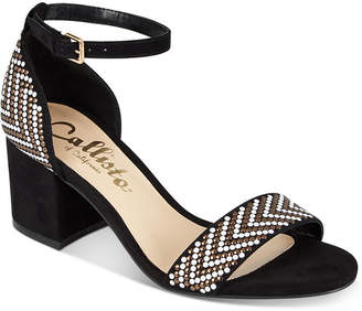 Callisto Nessa Two-Piece Block Heel Dress Sandals, Created for Macy's Women's Shoes