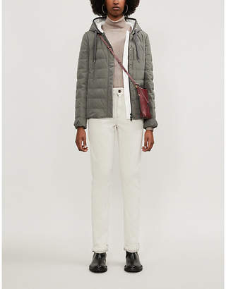 Brunello Cucinelli Hooded quilted shell-down jacket