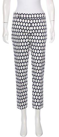 Kate Spade New York Printed Straight-Leg Pants