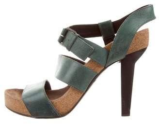Balenciaga Leather Multistrap Sandals