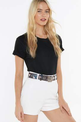 Nasty Gal Eyelet the Games Begin Faux Leather Snake Belt