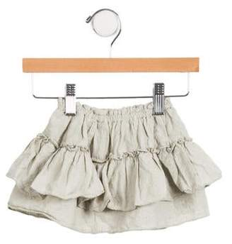 Lili Gaufrette Girls' Embroidered Skirt